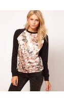 ASOS Collection Asos Sweatshirt with Pearl Diamond Print - Lyst
