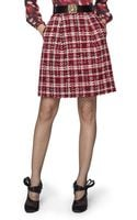 Oscar de la Renta Novelty Yarn Tweed Skirt - Lyst