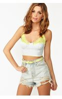 Nasty Gal Neon Laced Bustier - Lyst