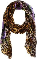 Givenchy Iris and Leopard Print Scarf - Lyst