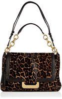 Diane von Furstenberg Leopard Haircalf New Harper Connect Bag - Lyst