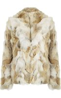 Michael Kors Coyote Fur Coat - Lyst