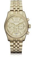 Michael Kors Mid Size Golden Lexington Chrono Watch - Lyst