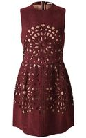 Carven Laser Cut Suede Dress - Lyst