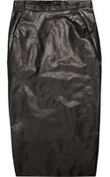 Rick Owens Leather Mid-Length Skirt - Lyst