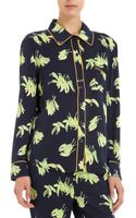 Piamita Peppers Print Isabella Pajama Shirt - Lyst