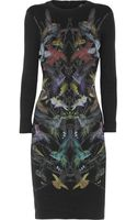 McQ by Alexander McQueen Hummingbirdprint Stretchjersey Mini Dress - Lyst