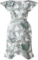 Vika Gazinskaya Floral Printed Cotton Dress - Lyst