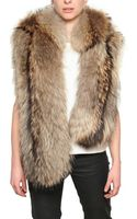 Giuseppe Zanotti Murmasky Fur Hooded Vest - Lyst