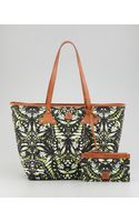 McQ by Alexander McQueen Butterflyprint Canvas Shopper Tote Bag - Lyst