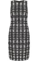 St. John Graphic Tweed Dress - Lyst