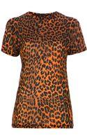 Christopher Kane Leopard Print Top - Lyst