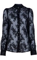 McQ by Alexander McQueen Lace Blouse - Lyst