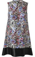 Balenciaga Abstract Circular Printed Silkblend Dress - Lyst