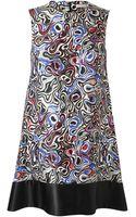 Balenciaga Abstract Circular Printed Silkblend Dress - Lyst