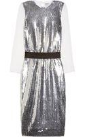 By Malene Birger Kudalin Sequined Chiffon Dress - Lyst