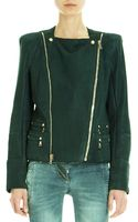 Balmain Structured Shoulder Moto Jacket - Lyst