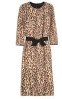 Giambattista Valli Leopard Print Bow Dress - Lyst