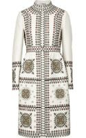 Valentino Embroidered Woolblend Coat - Lyst