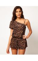 ASOS Collection Asos Playsuit in Animal Print - Lyst