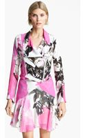 Christopher Kane Rose Print Biker Jacket - Lyst