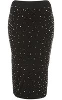 Topshop Crystal Stud Tube Skirt - Lyst