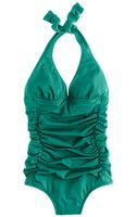 J.Crew Dcup Padded Ruched Halter Tank - Lyst