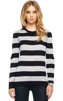 Michael by Michael Kors Metallic Striped Sweater - Lyst