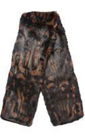 Burberry Animalprint Rabbit Scarf - Lyst