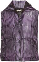 Christopher Kane Quilted Silkblend Moire Gilet - Lyst