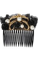 Dolce & Gabbana Swarovski Glass Pearl and Lace Hair Slide - Lyst