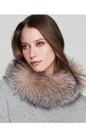 Surell Fox Fur Collar Headband - Lyst