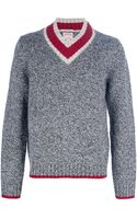 Brooks Brothers Vneck Sweater - Lyst