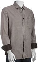 French Connection  Houndstooth Brushed Cotton Drummond Button Down Shirt - Lyst