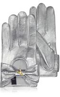 Patrizia Pepe Laminated Leather Gloves - Lyst