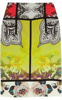 Etro Printed Stretchcrepe Pencil Skirt - Lyst