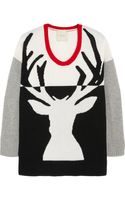 Mason by Michelle Mason Reindeer Intarsia Wool and Cashmereblend Sweater - Lyst