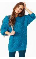 Nasty Gal Fuzzy Bubble Knit - Lyst
