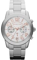 Michael Kors Darci Silver Stainless Steel Watch with Swarovski Crystals - Lyst
