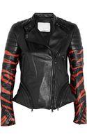 3.1 Phillip Lim Tigerprint Leather Biker Jacket - Lyst