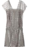Philosophy di Alberta Ferretti Embroidered Tulle Dress - Lyst