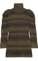 Ralph Lauren Black Label Fair Isle Cashmere Turtleneck Sweater - Lyst