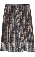 Marni Bouclé Woolblend and Silk Skirt - Lyst