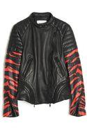 3.1 Phillip Lim Tiger Print Leather Jacket - Lyst