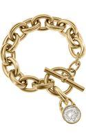 Michael Kors Chainlink Padlock Bracelet Golden - Lyst