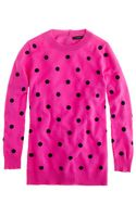 J.Crew Collection Cashmere Polkadot Sweater - Lyst