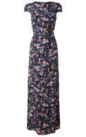 Erdem Clarise Floral Printed Silk Dress - Lyst
