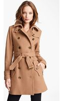 Burberry Brit Benthams Double Breasted Wool Blend Coat - Lyst