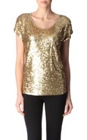 Michael by Michael Kors Sequinned Top - Lyst