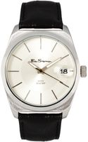 Ben Sherman White Dial Leather Strap Watch - Lyst